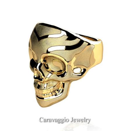 Caravaggio-Mens-14K-Yellow-Gold-Skull-Ring-R638-14KYGS2-P