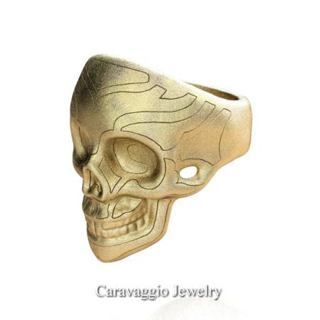 Caravaggio-Mens-14K-Yellow-Gold-Skull-Ring-R638-14KYGS3-P