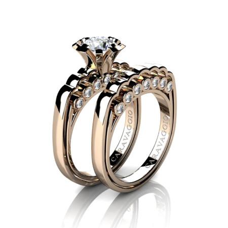 Caravaggio-Classic-14K-Rose-Gold-1-0-Carat-White-Sapphire-Diamond-Engagement-Ring-Wedding-Band-Set-R637S-14KRGDWS-P