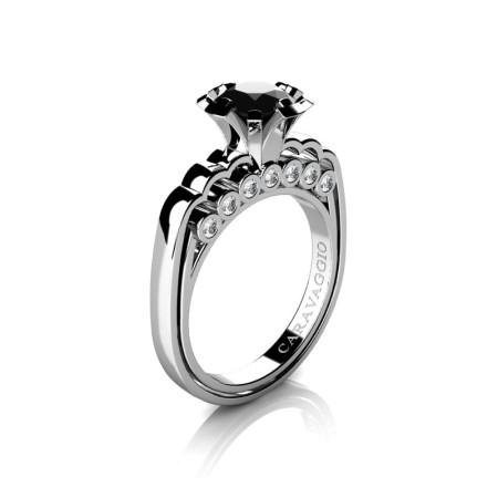 Caravaggio-Classic-14K-White-Gold-1-0-Carat-Black-and-White-Diamond-Engagement-Ring-R637-14KWGDBD-P