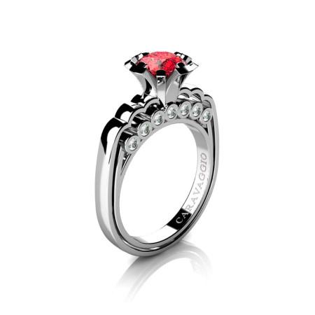 Caravaggio-Classic-14K-White-Gold-1-0-Carat-Ruby-Diamond-Engagement-Ring-R637-14KWGDR-P