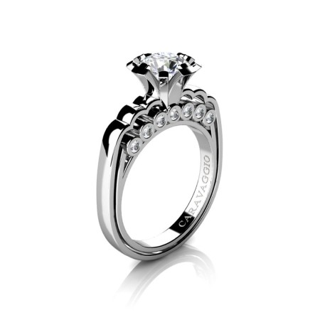 Caravaggio-Classic-14K-White-Gold-1-0-Carat-White-Sapphire-Diamond-Engagement-Ring-R637-14KWGDWS-P