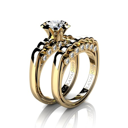 Caravaggio-Classic-14K-Yellow-Gold-1-0-Carat-White-Sapphire-Diamond-Engagement-Ring-Wedding-Band-Set-R637S-14KYGDWS-P