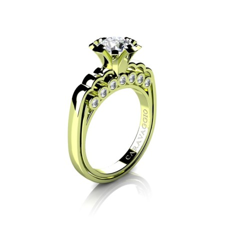 Caravaggio-Classic-18K-Green-Gold-1-0-Carat-Diamond-Engagement-Ring-R637-18KGGD-P