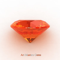 Art Masters Gems Calibrated 4.0 Ct Round Orange Sapphire Created Gemstone RCG0400-OS