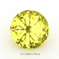 Art Masters Gems Calibrated 0.5 Ct Round Canary Yellow Sapphire Created Gemstone RCG0050-CYS