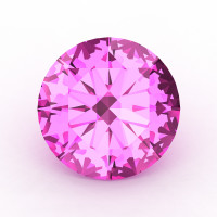Calibrated 1.0 Ct Round Light Pink Sapphire Created Gemstone RCG0100-LPS