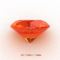 Art Masters Gems Calibrated 1.0 Ct Round Orange Sapphire Created Gemstone RCG0100-OS