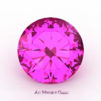 Calibrated 2.0 Ct Round Pink Sapphire Created Gemstone RCG0200-PS