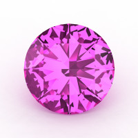 Art Masters Gems Calibrated 3.0 Ct Round Light Pink Sapphire Created Gemstone RCG0300-LPS
