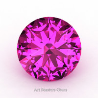 Calibrated 3.0 Ct Round Pink Sapphire Created Gemstone RCG0300-PS