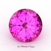 Art Masters Gems Calibrated 4.0 Ct Round Pink Sapphire Created Gemstone RCG0400-PS