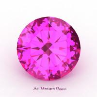 Art Masters Gems Calibrated 5.0 Ct Round Pink Sapphire Created Gemstone RCG0500-PS