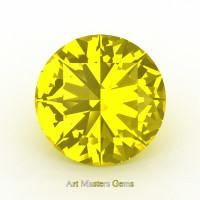 Art Masters Gems Calibrated 5.0 Ct Round Yellow Sapphire Created Gemstone RCG0500-YS