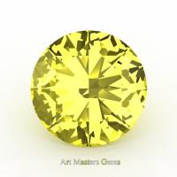 Art Masters Gems Calibrated 1.0 Ct Round Canary Yellow Sapphire Created Gemstone RCG0100-CYS