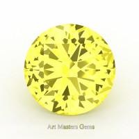 Art Masters Gems Calibrated 5.0 Ct Round Canary Yellow Sapphire Created Gemstone RCG0500-CYS
