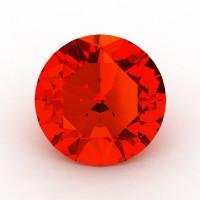 Art Masters Gems Calibrated 1.5 Ct Round Padparadscha Sapphire Created Gemstone RCG0150-POS