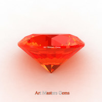 Art Masters Gems Calibrated 2.0 Ct Round Padparadscha Sapphire Created Gemstone RCG0200-POS