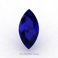 Art Masters Gems Standard 0.75 Ct Marquise Blue Sapphire Created Gemstone MCG0075-BS