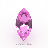 Art Masters Gems Calibrated 0.75 Ct Marquise Light Pink Sapphire Created Gemstone MCG0075-LPS