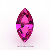 Art Masters Gems Calibrated 0.75 Ct Marquise Pink Sapphire Created Gemstone MCG0075-PS