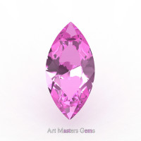 Art Masters Gems Calibrated 1.0 Ct Marquise Light Pink Sapphire Created Gemstone MCG0100-LPS
