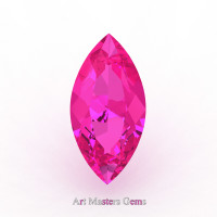 Art Masters Gems Calibrated 2.0 Ct Marquise Pink Sapphire Created Gemstone MCG0200-PS