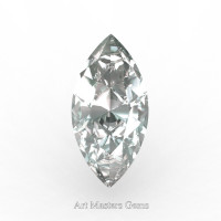 Art Masters Gems Standard 2.0 Ct Marquise White Sapphire Created Gemstone MCG0200-WS
