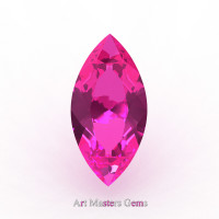 Art Masters Gems Calibrated 2.5 Ct Marquise Pink Sapphire Created Gemstone MCG0250-PS
