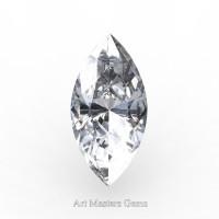 Art Masters Gems Standard 3.0 Ct Marquise White Sapphire Created Gemstone MCG0300-WS