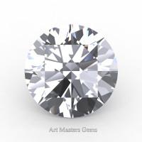 Art Masters Gems Standard 3.0 Ct Round White Sapphire Created Gemstone RCG0300-WS