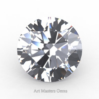 Art Masters Gems Standard 4.0 Ct Round White Sapphire Created Gemstone RCG0400-WS