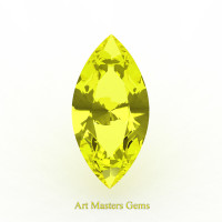 Art Masters Gems Standard 0.5 Ct Marquise Yellow Sapphire Created Gemstone MCG050-YS