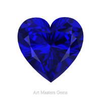 Art Masters Gems Standard 0.75 Ct Heart Blue Sapphire Created Gemstone HCG075-BS
