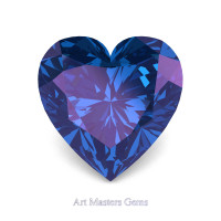Art Masters Gems Standard 1.0 Ct Heart Alexandrite Created Gemstone HCG100-AL