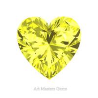 Art Masters Gems Standard 1.0 Ct Heart Canary Yellow Sapphire Created Gemstone HCG100-CYS