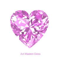 Art Masters Gems Standard 1.0 Ct Heart Light Pink Sapphire Created Gemstone HCG100-LPS