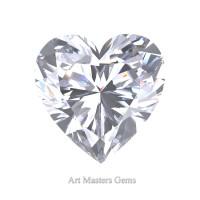 Art Masters Gems Standard 1.0 Ct Heart White Sapphire Created Gemstone HCG100-WS