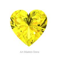 Art Masters Gems Standard 1.0 Ct Heart Yellow Sapphire Created Gemstone HCG100-YS