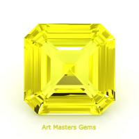 Art Masters Gems Standard 1.5 Ct Asscher Yellow Sapphire Created Gemstone ACG150-YS