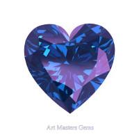 Art Masters Gems Standard 2.5 Ct Heart Alexandrite Created Gemstone HCG250-AL