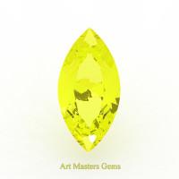 Art Masters Gems Standard 2.5 Ct Marquise Yellow Sapphire Created Gemstone MCG250-YS