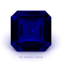 Art Masters Gems Standard 3.0 Ct Asscher Blue Sapphire Created Gemstone ACG300-BS