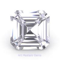 Art Masters Gems Standard 3.0 Ct Asscher White Sapphire Created Gemstone ACG300-WS