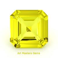 Art Masters Gems Standard 3.0 Ct Asscher Yellow Sapphire Created Gemstone ACG300-YS