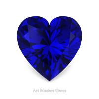 Art Masters Gems Standard 3.0 Ct Heart Blue Sapphire Created Gemstone HCG300-BS