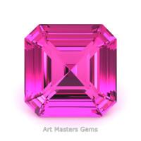 Art Masters Gems Standard 3.0 Ct Royal Asscher Pink Sapphire Created Gemstone RACG300-PS