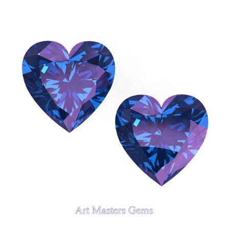 Art-Masters-Gems-Standard-Set-of-Two-1-5-0-Carat-Heart-Cut-Alexandrite-Created-Gemstones-HCG150S-AL-T2