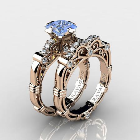 Art-Masters-Caravaggio-14K-Rose-Gold-1-5-Carat-Princess-Light-Blue-Sapphire-Diamond-Engagement-Ring-Wedding-Band-Set-R623PS-14KRGDLBS-P
