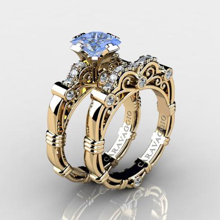 Art-Masters-Caravaggio-14K-Yellow-Gold-1-5-Carat-Princess-Light-Blue-Sapphire-Diamond-Engagement-Ring-Wedding-Band-Set-R623PS-14KYGDLBS-P